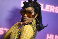"""FILE - Cardi B arrives at a photo call for """"Hustlers"""" on Aug. 25, 2019, in Beverly Hills, Calif . The rapper turns 29 on Oct. 11. (Photo by Jordan Strauss/Invision/AP, File)"""