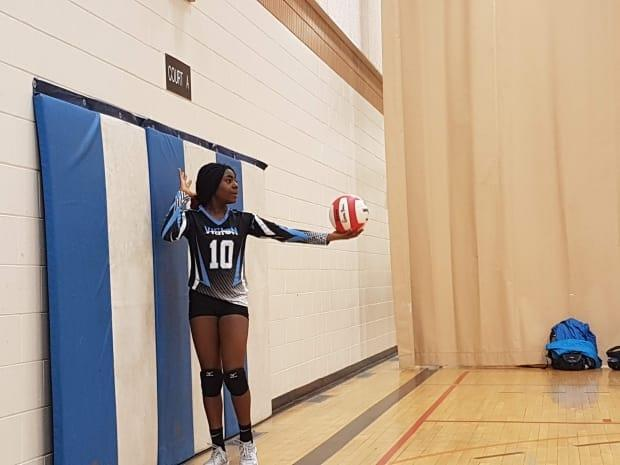 Whitney Ashu, 14, says her volleyball coach told her and her teammates he has free speech and should be able to use the N-word during a discussion of racial issues at a practice last week.  (Submitted by Pauline Takor - image credit)