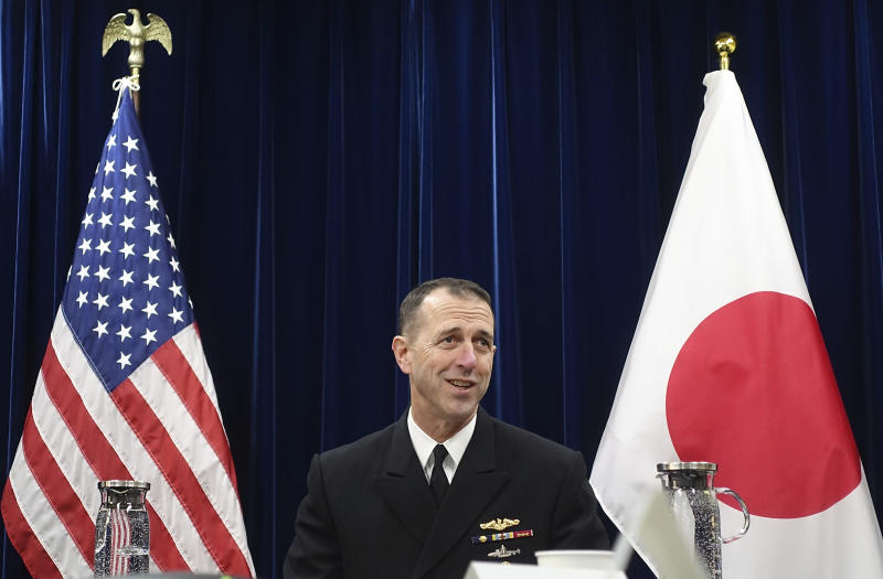 Top US Navy officer urges China to avoid confrontations