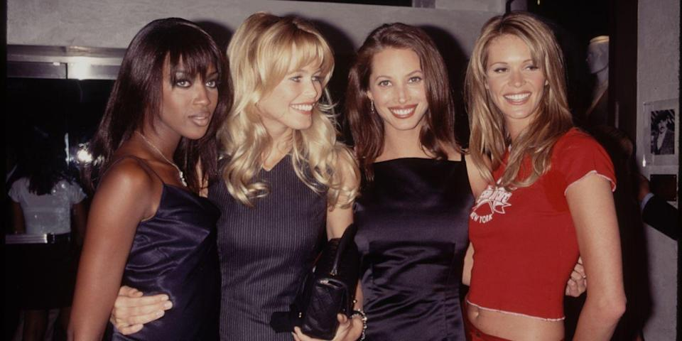 "<p>Fashion Café opening night in New York of Spring 1995 at the Rockefeller Center. 28,000 t-shirts were sold in the gift shop in the first 4 months alone! I recall the press describing it as a ""couture version of Planet Hollywood or The Hard Rock Café!""</p>"