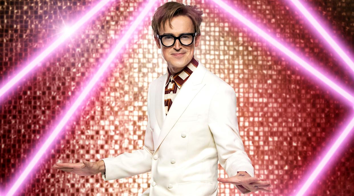 McFly's Tom Fletcher says his kids cringe when he tries to dance with wife Giovanna at home. (BBC)