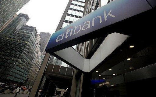 The sign to a Citibank branch is seen in Manhattan in 2010