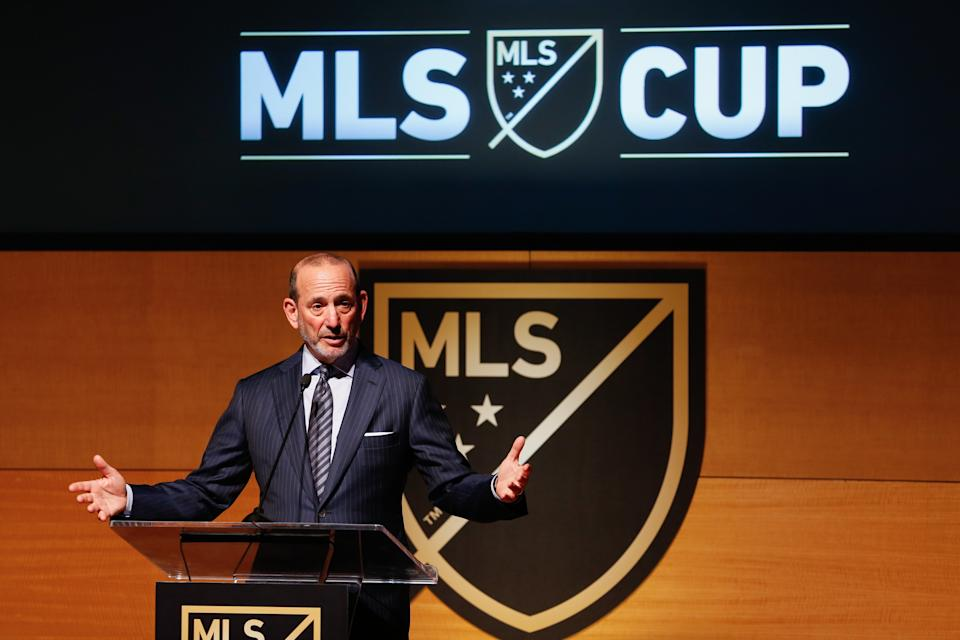 During his annual State of the League address, MLS commissioner Don Garber made it clear that the next expansion spot in Charlotte, North Carolina's to lose. (Jennifer Buchanan/USA Today)