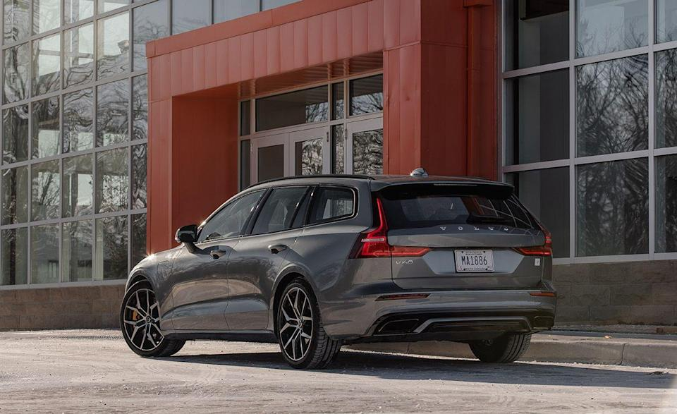 """<p>The <a href=""""https://www.caranddriver.com/volvo/v60"""" rel=""""nofollow noopener"""" target=""""_blank"""" data-ylk=""""slk:Volvo V60"""" class=""""link rapid-noclick-resp"""">Volvo V60</a> is the wagon version of the S60, so <a href=""""https://www.iihs.org/ratings/vehicle/volvo/v60-4-door-wagon/2021"""" rel=""""nofollow noopener"""" target=""""_blank"""" data-ylk=""""slk:the IIHS ratings"""" class=""""link rapid-noclick-resp"""">the IIHS ratings </a>were identical in all tests. Like the S60, every V60 and V60 Recharge come standard with forward-collision warning and automated emergency braking, blind-spot monitoring and rear cross-traffic alert, with lane-keeping assist and departure warning. </p><p><a class=""""link rapid-noclick-resp"""" href=""""https://www.caranddriver.com/reviews/a26782843/2019-volvo-v60-wagon-by-the-numbers/"""" rel=""""nofollow noopener"""" target=""""_blank"""" data-ylk=""""slk:V60 TESTED"""">V60 TESTED</a> 