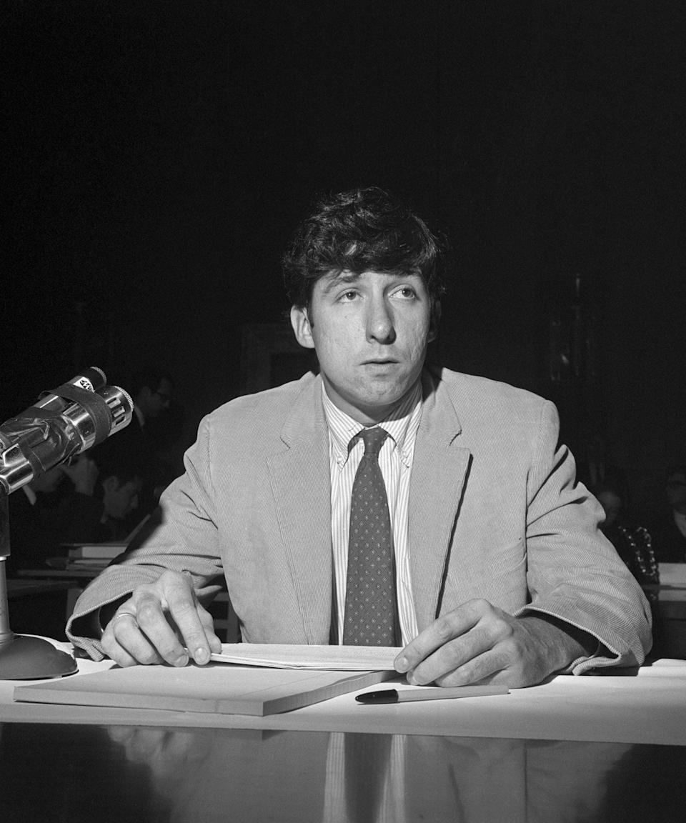 """<h2>Tom Hayden</h2><br>After being arrested, convicted, and then cleared of all charges during the Chicago Sevem case, Tom Hayden went on to become a Democratic California senator — and marry actress and fellow activist Jane Fonda.<span class=""""copyright"""">Photo: Bettmann/Getty Images.</span>"""