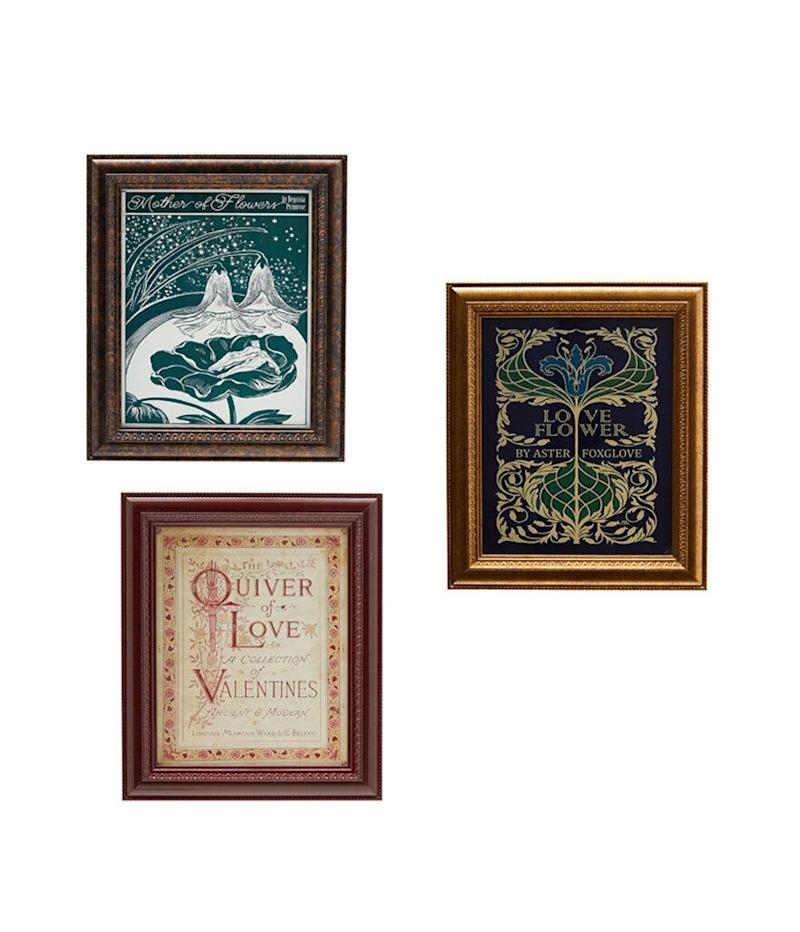 "Drew Barrymore Flower Home Vintage Book Covers 11"" x 13"" (Photo: Walmart)"