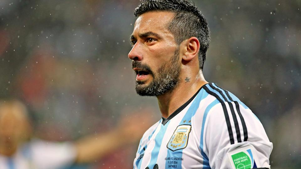 Ezequiel Lavezzi, pictured here in action for Argentina at the 2014 FIFA World Cup.