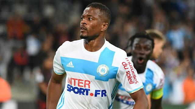 Marseille defender Patrice Evra will be unable to play in UEFA club competitions for the remainder of 2017-18 after he kicked out at a fan.