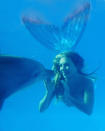 She has swum with dolphins, whales, sea lions and other sea creatures in the open ocean.