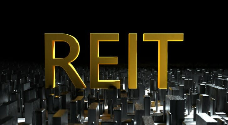 """""""REIT"""" in gold letters"""