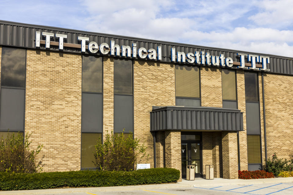 Indianapolis, USA - November 18, 2016: Location of ITT Educational Services.  ITT Technical Institute has closed all of its campuses following devastating federal sanctions IV