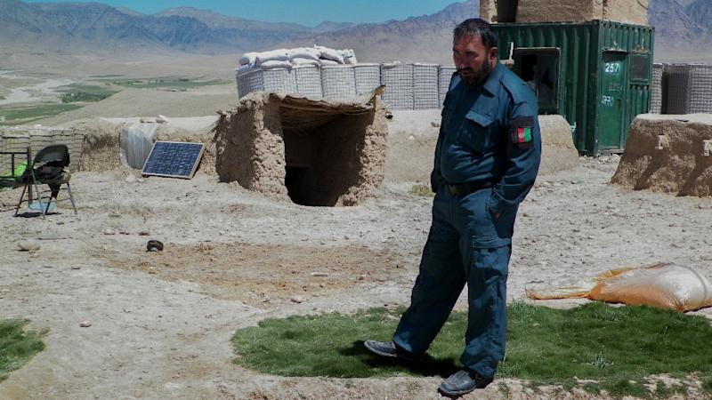 Afghan police commander Seddiqullah has voiced concern about Taliban insider attacks carried out by child sex slaves (AFP Photo/Raetb Noori)