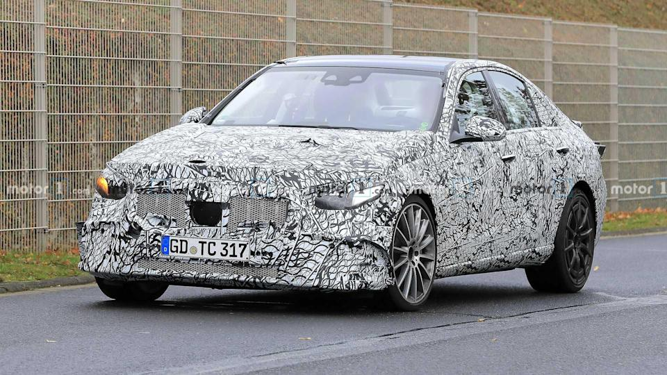 2022 Mercedes-AMG C53 spy photo