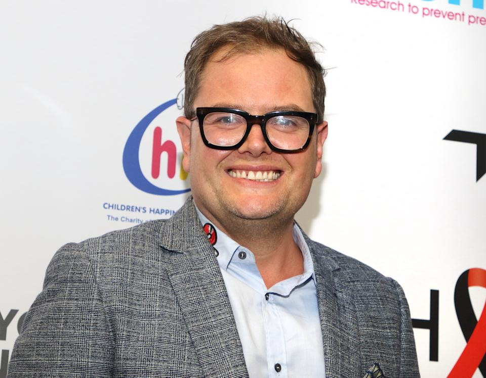 Comedian Alan Carr at the BGC Charity Day 2019 at Canary Wharf. (Photo by Keith Mayhew / SOPA Images/Sipa USA)