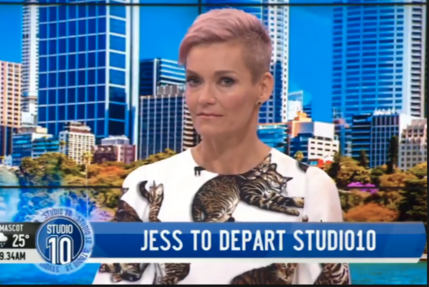 Jessica announced in March that she was leaving Studio 10. Photo: Channel 10