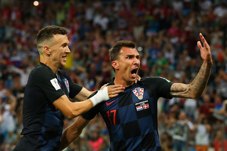 Croatia beat Denmark on penalties to advance to the quarterfinals of the World Cup. (Getty)