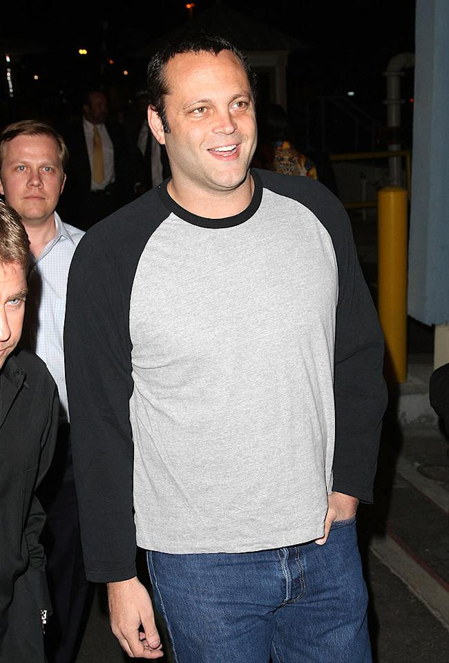 "Vince Vaughn's painfully casual attire stands out in the crowd. Jason Merritt/<a href=""http://www.filmmagic.com/"" target=""new"">FilmMagic.com</a> - May 21, 2008"