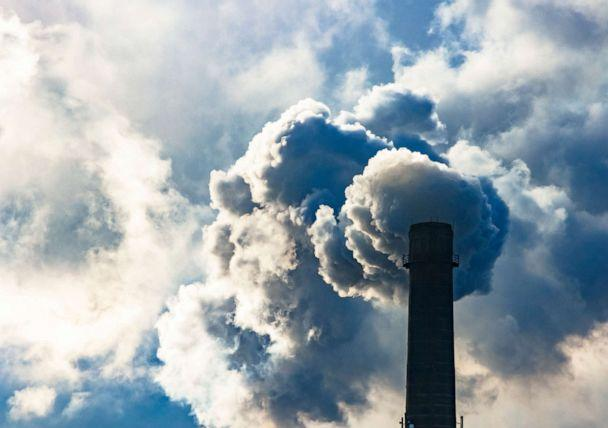 PHOTO: Poisoned emissions from towers. Poisonous violet emissions from the production of goods (STOCK PHOTO/Getty Images)