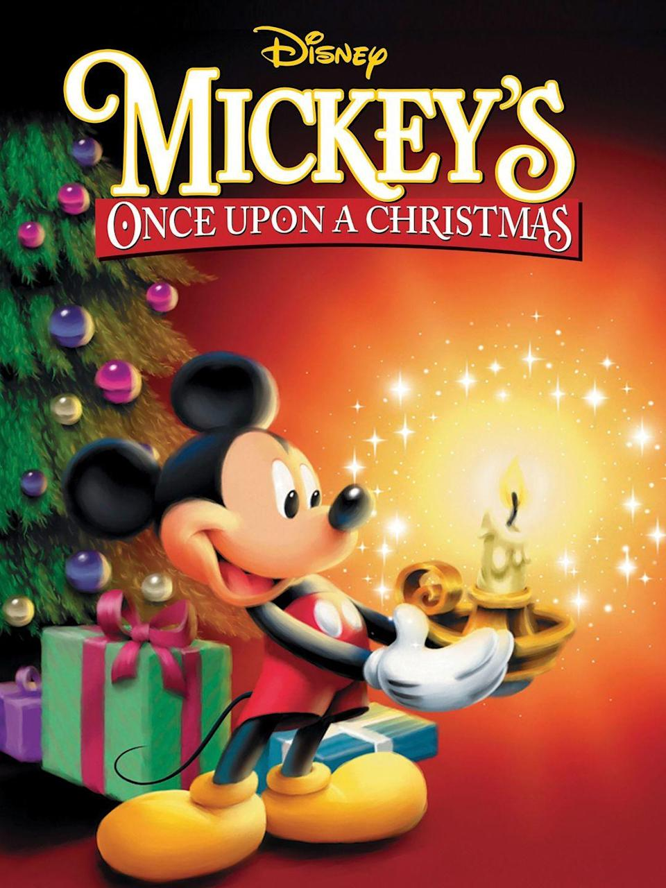 """<p>This holiday movie includes not one, but <em>three,</em> magical tales featuring Mickey and all his friends.</p><p><a class=""""link rapid-noclick-resp"""" href=""""https://www.amazon.com/dp/B00D8GZPKS?tag=syn-yahoo-20&ascsubtag=%5Bartid%7C10050.g.5060%5Bsrc%7Cyahoo-us"""" rel=""""nofollow noopener"""" target=""""_blank"""" data-ylk=""""slk:STREAM IT ON PRIME"""">STREAM IT ON PRIME</a></p><p><a class=""""link rapid-noclick-resp"""" href=""""https://go.redirectingat.com?id=74968X1596630&url=https%3A%2F%2Fwww.disneyplus.com%2Fmovies%2Fmickeys-once-upon-a-christmas%2F72SAF9iLzQlT&sref=https%3A%2F%2Fwww.countryliving.com%2Flife%2Fentertainment%2Fg5060%2Fbest-disney-christmas-movies%2F"""" rel=""""nofollow noopener"""" target=""""_blank"""" data-ylk=""""slk:STREAM IT ON DISNEY+"""">STREAM IT ON DISNEY+</a><br></p>"""