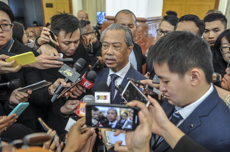 Home Minister Tan Sri Muhyiddin Yassin said the police have called Chinese educationist group Dong Zong, tycoon Tan Sri Koon Yew Yin, and fugitive televangelist Dr Zakir Naik in for questioning over their recent remarks. — Picture by FIrdaus Latif