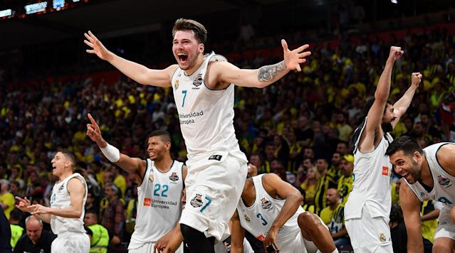 Luka Doncic, the potential No. 1 pick in next month's NBA draft, led Real Madrid to the Euroleague championship on Sunday.