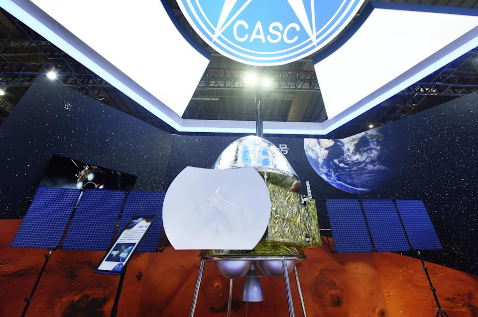SHANGHAI, CHINA - SEPTEMBER 15, 2020 - A model of China's first Mars probe