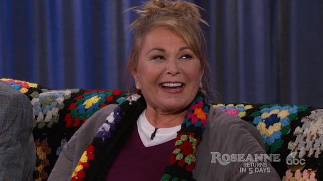 Now that <em>Roseanne</em> is back, the show's creator has a whole new audience to share conspiracies with. (Photo: ABC)