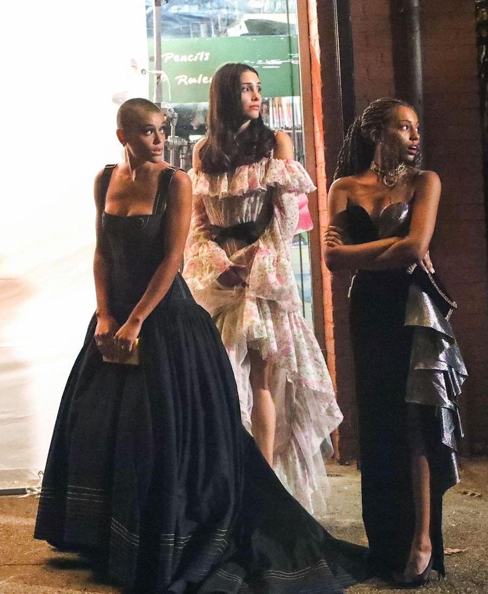 <p>Jordan Alexander wears a black Christopher John Rogers gown, Zión Moreno goes floral in Giambattista Valli, and Savannah Smith wears a black-and-silver sweetheart-neckline number. </p>