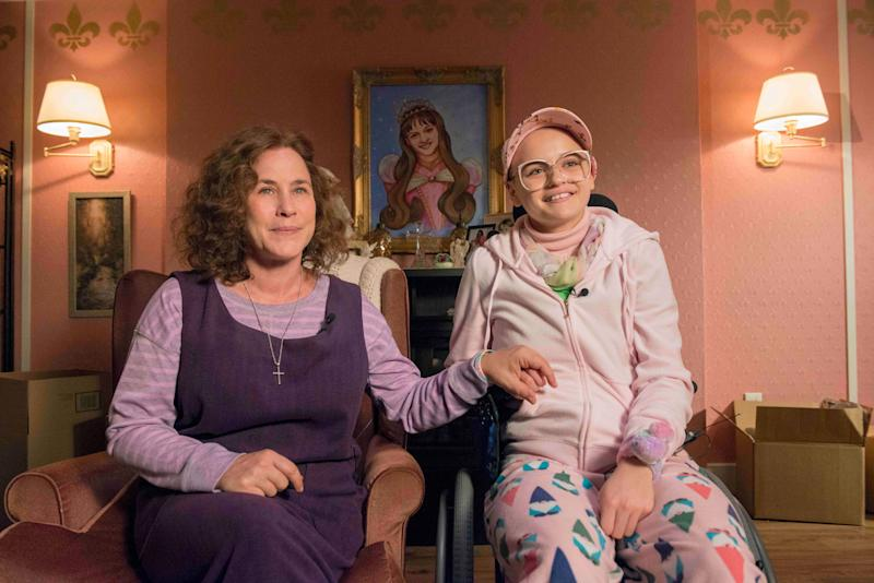 """Patricia Arquette and Joey King star as Dee Dee and Gypsy Rose Blanchard in """"The Act,"""" which is based on a true story. Dee DeeBlanchard was thought to have Munchausen by proxy syndrome, a type of factitious disorder. (Photo: Brownie Harris/Hulu)"""