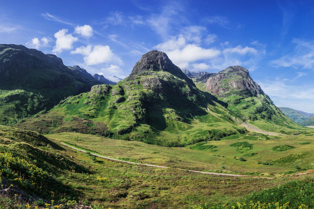 <p>The magnificent Glencoe houses Ben Nevis, the UK's tallest mountain. These towering mountains were carved out centuries ago by icy glaciers and volcanic explosions.</p>