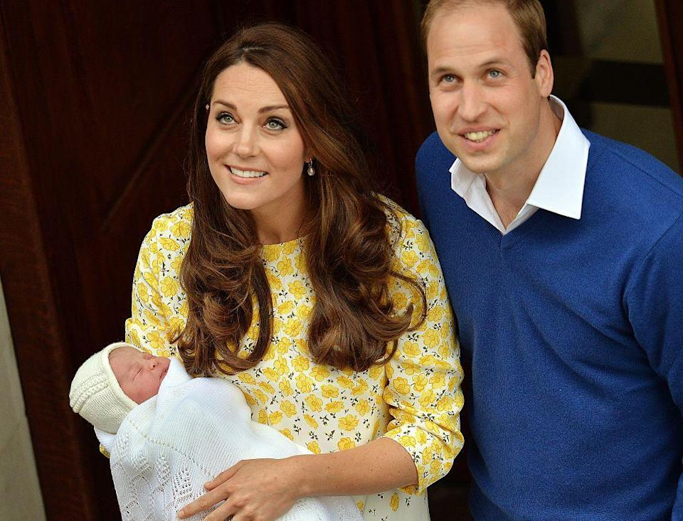<p>The newborn was cradled by her mother on the steps of the Lindo Wing when she was born on May 2 2015.</p>