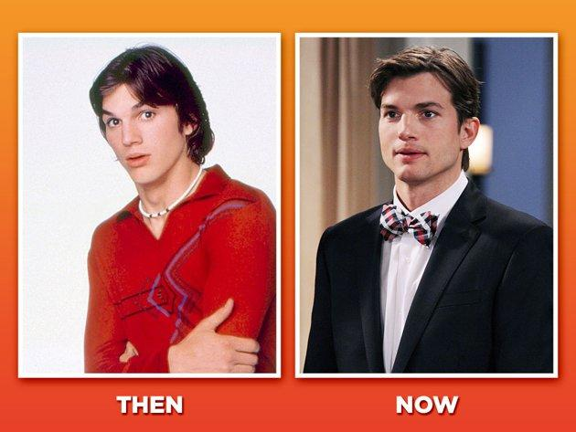 """An unknown teen model when """"'70s"""" debuted in 1998, Ashton Kutcher perfected the lovable lunkhead role as dope-smoking dope Michael Kelso. Kutcher stayed in the headlines with a well-publicized marriage to Demi Moore while making a few forgettable stabs at big-screen stardom (""""What Happens in Vegas,"""" """"Killers""""). But his career rebounded when he landed a very cushy gig last fall: replacing Charlie Sheen on CBS's hit sitcom """"Two and a Half Men."""" Funny how things tend to work out for ridiculously good-looking guys, isn't it?"""