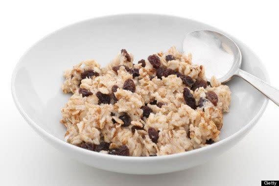 """Really? Oatmeal is supposed to get us in the mood? Oatmeal? You mean the least sexy food of all time? The oh-so attractive breakfast mush is <a href=""""http://www.huffingtonpost.com/2013/09/18/best-foods-for-sex_n_3915457.html"""" rel=""""nofollow noopener"""" target=""""_blank"""" data-ylk=""""slk:high in an amino acid called L'arginine"""" class=""""link rapid-noclick-resp"""">high in an amino acid called L'arginine</a>, which is supposed to be """"key to your partner's sexual readiness and yours."""" We don't really care <em>what</em> oatmeal does to our bodies. It definitely doesn't put us in the mood."""