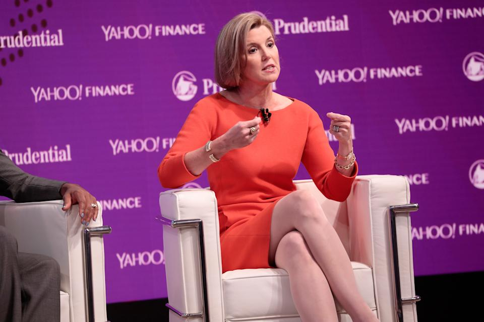NEW YORK, NY - OCTOBER 25:  Ellevest CEO and Co-Founder Sallie Krawcheck speaks onstage at the Yahoo Finance All Markets Summit on October 25, 2017 in New York City.  (Photo by Cindy Ord/Getty Images for Yahoo)