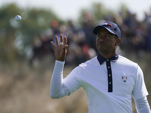 US golfer Tiger Woods, pictured October 2018, will compete in the Hero World Challenge, his first official competition since the US lost to Europe in the Ryder Cup (AFP Photo/Lionel BONAVENTURE)