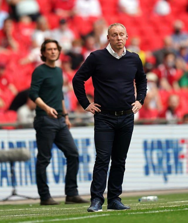 Steve Cooper, right, saw his Swansea side lose in the final