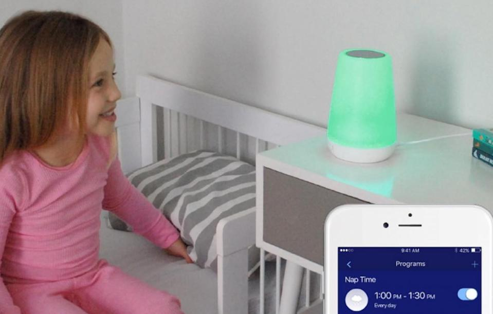 <p>The Rest is a night light, sound machine, and 'okay-to-wake indicator' controllable from your phone. $59.99 [Photo: Instagram/hatchnursery] </p>
