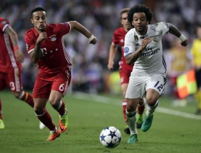 Thiago Alcântara e Marcelo - Real Madrid x Bayern de Munique