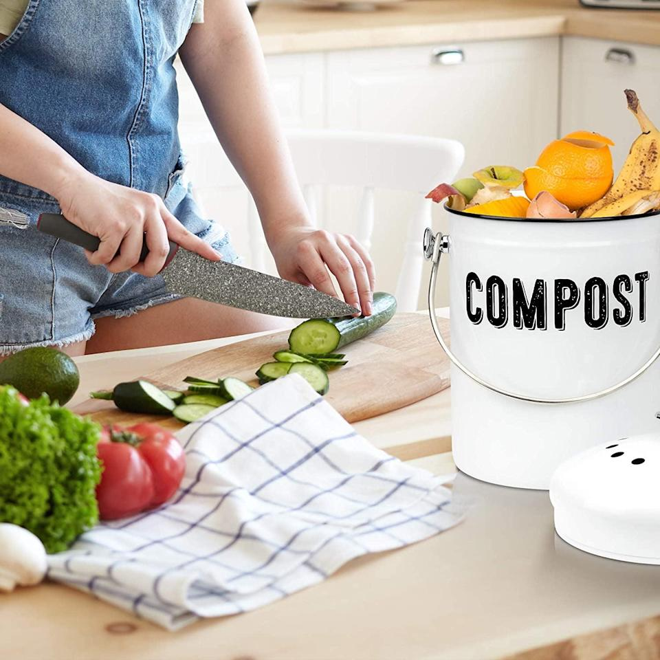 <p><span>Farmhouse Kitchen Compost Bin</span> ($30, originally $45)</p>