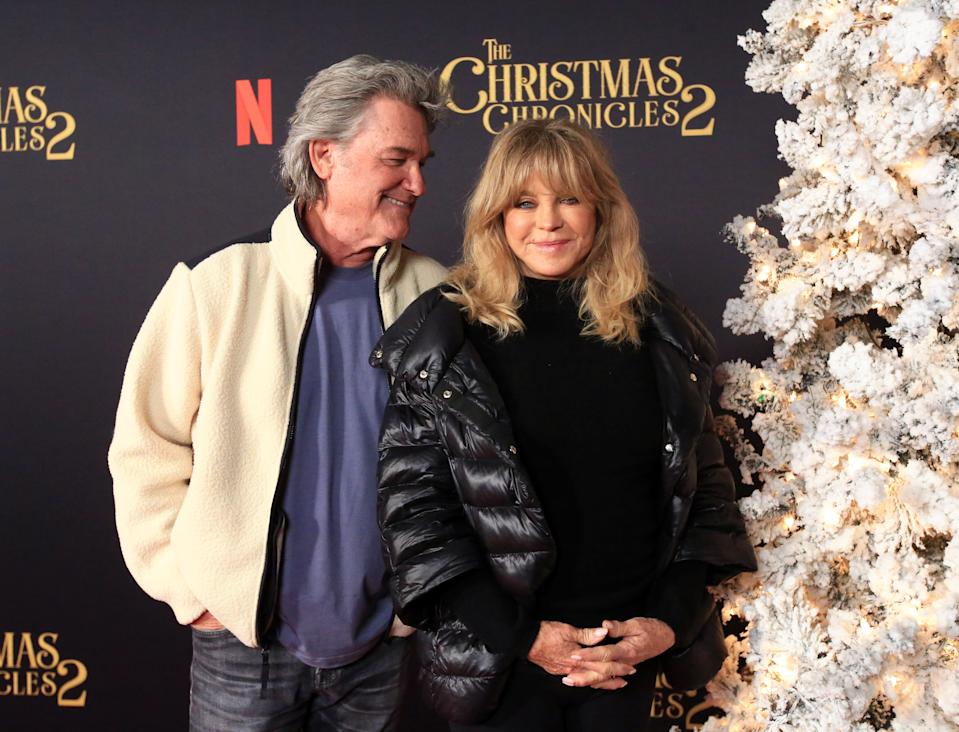 Kurt Russell and Goldie Hawn. (Photo: Jesse Grant/Getty Images for Netflix)