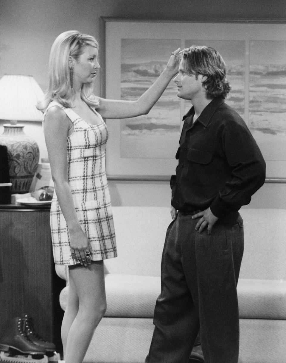 """<p>Following his debut film, <em>Reality Bites</em>, Steve Zahn appeared on season 2 as Phoebe's Canadian husband, whom she married so he could get his green card. """"I still have people, and this was four days work in my life, around the world that come up and go 'Ah, <em>Friends</em>,'"""" Steve said on<a href=""""https://ew.com/tv/2019/01/23/steve-zahn-friends-couch-surfing/"""" rel=""""nofollow noopener"""" target=""""_blank"""" data-ylk=""""slk:Entertainment Weekly's Couchsurfing"""" class=""""link rapid-noclick-resp""""> Entertainment Weekly's Couchsurfing</a>. </p>"""