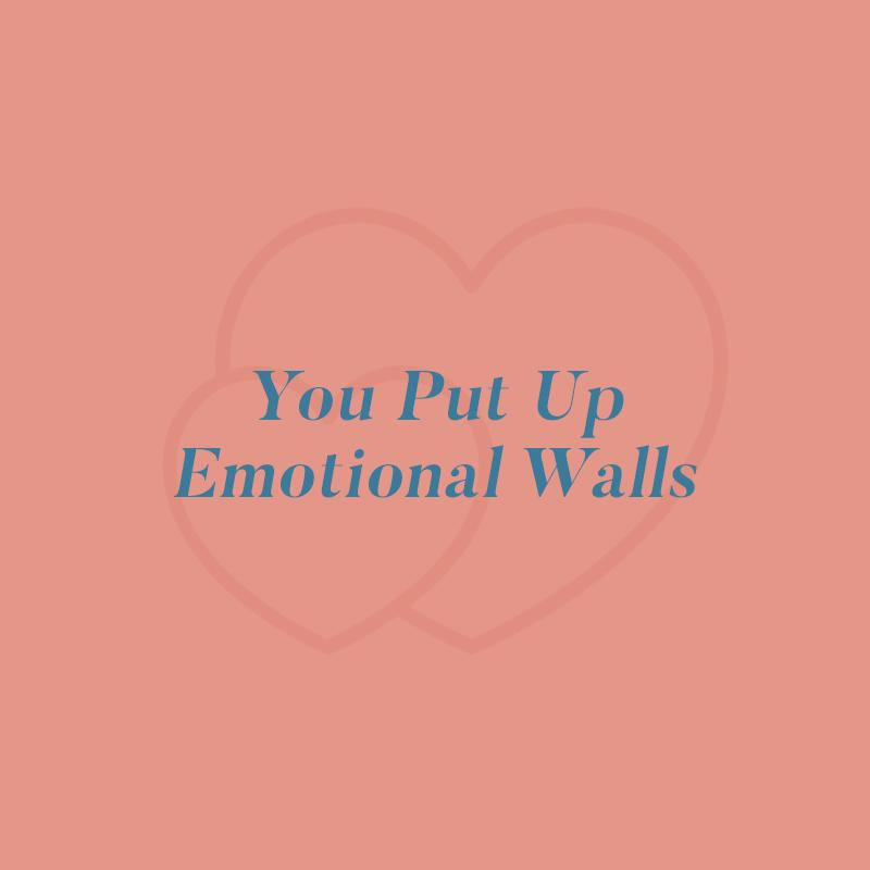 "<h2>2. You put up emotional walls</h2>                                                                                                                                                                 <p><p>""When you allow parts of your deepest self to show, you may initially feel scared,"" Lyons says. And this is totally understandable! Revealing yourself to a partner <em>can</em> be unnerving. ""But the goal is to eventually arrive in a place where you feel like you're seen and understood. Disclosure is one of the main ingredients in the cocktail of intimacy and closeness."" This kind of connection takes time to cultivate—you likely won't be spilling your heart's desires on the third date—but opening up gets easier each time you do it, Lyons says.</p> <p>Lyons also adds that allowing yourself to be vulnerable ""does not mean you'll always get what it is that you're looking for. It's a risk that you're taking with the hope of feeling a stronger and deeper bond and sense of trust.""</p> <p>To help the process along, Dr. Levine recommends doing a physical activity with your partner—and no, not <em>that </em>kind. Think indoor rock climbing, taking a trip to an amusement park, or running a local 5K. ""There's a lot of research that shows that when couples do physical activities together, they are more in sync with each other,"" he says. ""Plus, they help you have a physical closeness that increases oxytocin, which then increases feelings of trust.""</p>                                                                                                                                                               <p>     <strong>Related Articles</strong>     <ul>         <li><a rel=""nofollow"" href=""http://thezoereport.com/fashion/style-tips/box-of-style-ways-to-wear-cape-trend/?utm_source=yahoo&utm_medium=syndication"">The Key Styling Piece Your Wardrobe Needs</a></li><li><a rel=""nofollow"" href=""http://thezoereport.com/entertainment/celebrities/ryan-gosling-eva-mendes-bilingual-daughters/?utm_source=yahoo&utm_medium=syndication"">Eva Mendes And Ryan Gosling Are Raising Their Daughters To Be Bilingual</a></li><li><a rel=""nofollow"" href=""http://thezoereport.com/entertainment/celebrities/prince-harry-meghan-markle-groundbreaking-royal-engagement/?utm_source=yahoo&utm_medium=syndication"">3 Ways Prince Harry And Meghan Markle's Engagement Is Groundbreaking</a></li>    </ul> </p>"