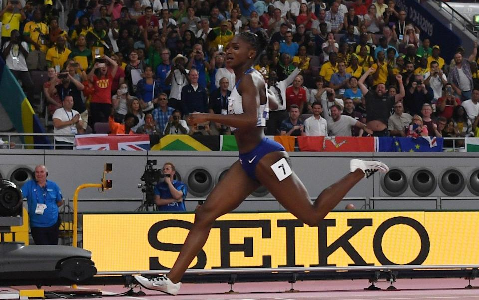 Dina Asher-Smith in action - AFP