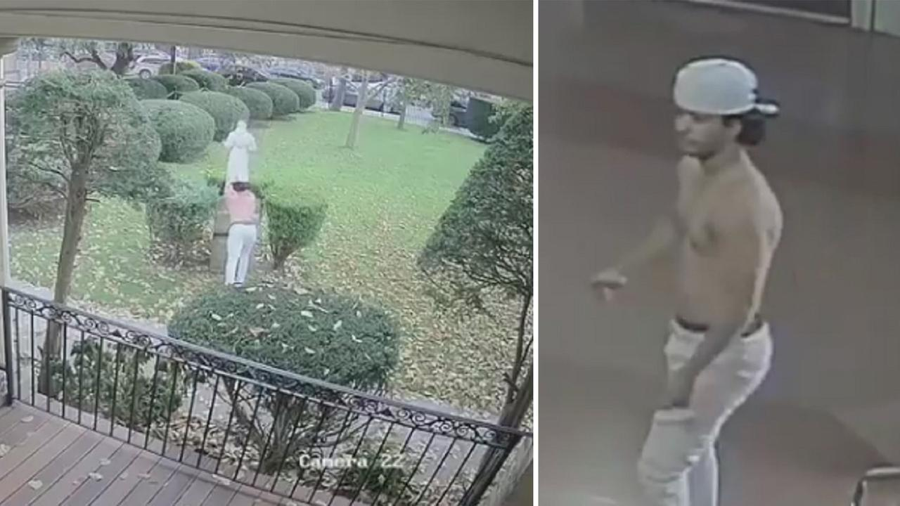 Police are searching for a shirtless man who vandalized a church statue in Brooklyn not once - but twice. The man knocked over the effigy of St. Francis at Blessed Sacrament Church in Cypress Hill on Halloween evening and again on November 11th.