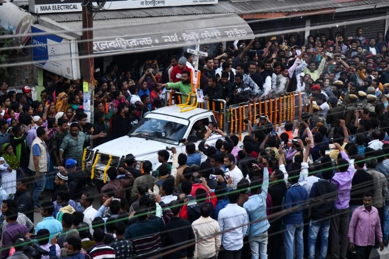 Hundreds of angry mourners attended the funeral of 18-year-old Sam Stafford, who was killed by police firing in Assam state