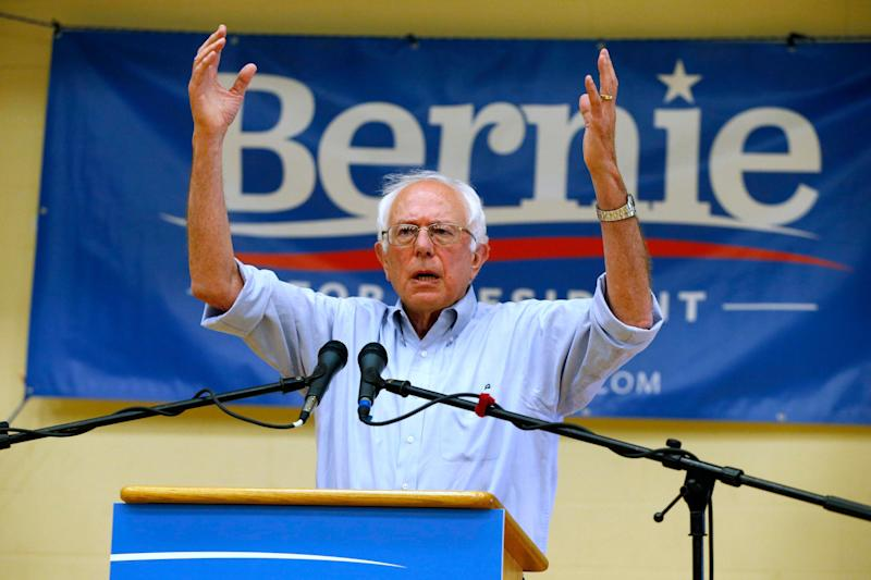 Sen. Bernie Sanders speaks during a town hall meeting at Nashua Community College in Nashua, N.H. on Saturday, June 27, 2015.