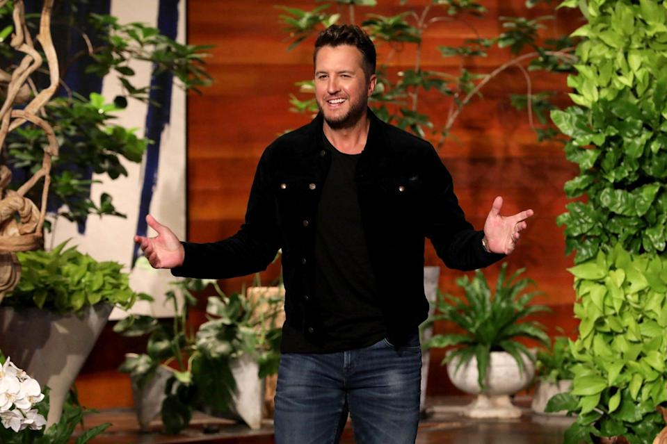 """Country music superstar Luke Bryan makes an in-studio appearance on """"The Ellen DeGeneres Show,"""" airing Tuesday, May 4th."""