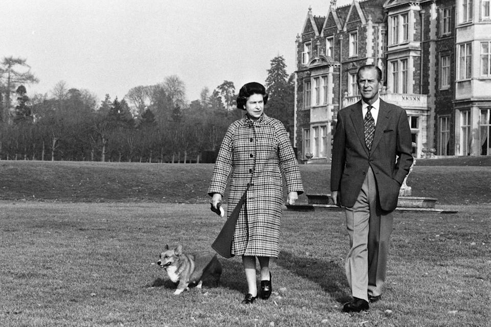 Queen Elizabeth II on the 30th anniversary of her reign, with the Duke of Edinburgh on their estate at Sandringham, Norfolk