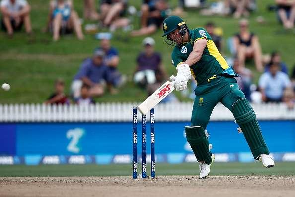 HAMILTON, NEW ZEALAND - MARCH 01: AB de Villiers of South Africa bats during game four of the One Day International series between New Zealand and South Africa at on March 1, 2017 in Hamilton, New Zealand. (Photo by Phil Walter/Getty Images)