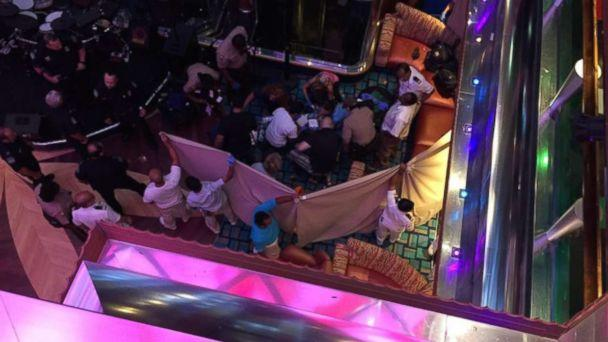 PHOTO: A girl fell from one deck to another on the Carnival Glory cruise ship in Miami, Oct. 14, 2017. (Obtained by ABC News)
